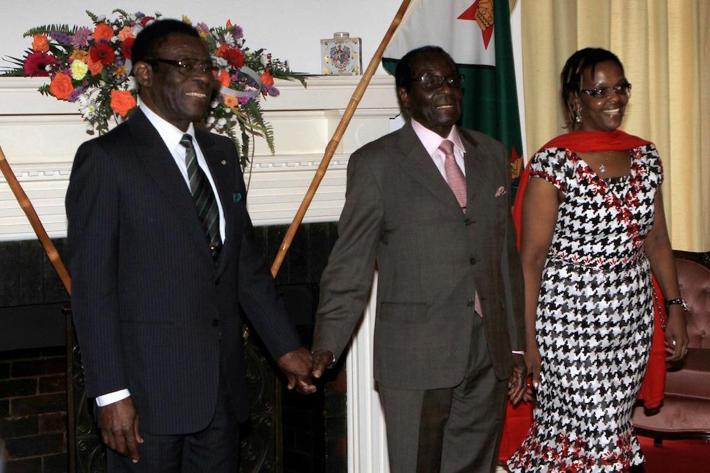 Zimbabwe News Africa Leaders Obiang And Mugabe Meet